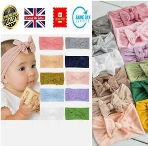Baby Girls Headband Kids Bow-Knot Rabbit Elastic Bow Hair bands Newborn Soft
