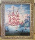 "Vladimir Kush ""Arrival of the Flower Ship""  Beautifully Framed with COA"