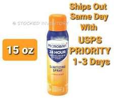 Microban 24 Hour Spray Citrus Scent 15oz LARGE SIZE Ships Out Same Day