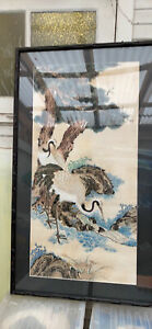 Large vintage Chinese painting