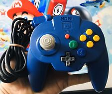 *OFFICIAL* Blue Hori Mini Pad Wired Controller Nintendo 64 N64 *FAST* Shipping
