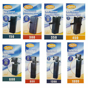 Betta Aquarium Fish Tank Internal Filter Aquariums <300L 150-1800L/h