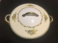 Vintage Noritake M Japan Covered Vegetable Serving Dish Tureen Floral Pattern