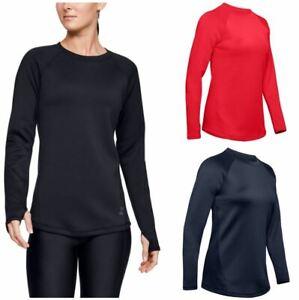 Under Armour 1344531 Women's UA ColdGear Armour Long Sleeve Shirt, Thumb Holes