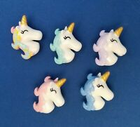 UNICORN HEADs Animal - Set of 5 Handmade Decorative Memo Board Magnets