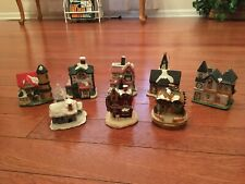 Collectible Houses - Lot Of 8 - Holiday Theme - Free Shipping
