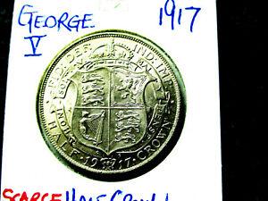GEORGE V 1911-1936  HALF CROWN  for   1917