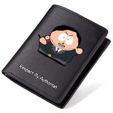New Anime South Park Logo Black Pu Leather Bi-Fold Wallet 4.52*3.74''