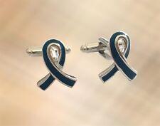 NEW Mens Blue Ribbon Cufflinks Cuffs Charity Mens Health Awareness UK Seller