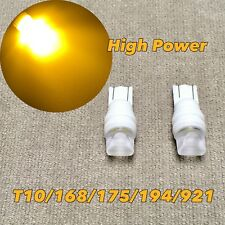 PARKING LIGHT T10 LED AMBER GLASS LENS bulb w5w 168 194 3SMD for Toyota L S