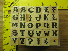Rubber Stamp Alphabet Letter Set of 30 Hampton Art Stampinsisters #3887