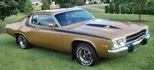 1973 Plymouth Road Runner GTX Gloss Black Roof / Body Tape Stripe Kit MoPar