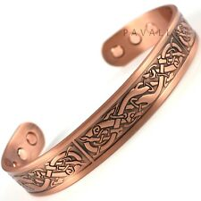 LARGE COPPER MAGNETIC BRACELET bangle 6 MAGNETS carpal tunnel arthritis celtic