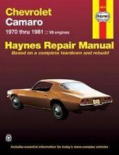 1970-1981 Camaro Haynes Repair Service Workshop Shop Manual Book 0856968811