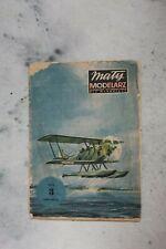 3 alte Modellbaubogen Maly Modelarz, Fokker F VIIb-3m,ANSOLDO 1A ,LUBLIN R-VIII
