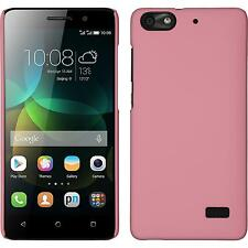 Hardcase for Huawei Honor 4c rubberized pink Cover + protective foils
