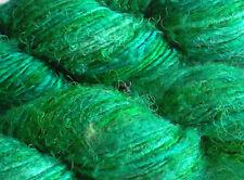 Luxury Mulberry Silk Yarn, Green, 100g Textile Arts/Knit/Crochet/Weave