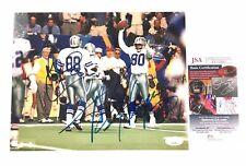 Michael Irvin/ Alvin Harper Signed 8x10 Photo JSA COA Dallas Cowboys
