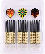 MAXMAU Steel Tip Darts Professional Darts 18 Metal Tip Dart Set