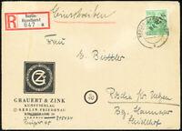 BERLIN, MiNr. 16, Einzelfrankatur auf R-Brief, Mi. 240,-