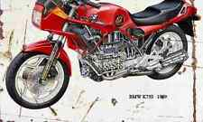 BMW K75S 1989 ghosted Aged Vintage Photo Print A4 Retro poster