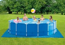 New listing Intex 15ft x 48in Metal Frame Above Ground Pool Set with Pump Cover And Ladder