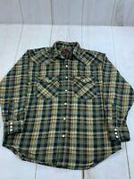 Five Brother Mens Long Sleeve Button Front Cotton Plaid Multicolor Shirt Size XL