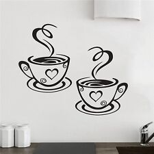 New Trendy Coffee Cups Cafe Tea Wall Stickers Art Vinyl Decal for Kitchen Home
