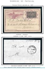 Guatemala: 1897; Postal Stationery, cancellation: Patulul, North Railway, EBG078