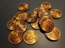 10 - UNCIRCULATED 20 CENTAVOS MEXICO - 1960 - BRONZE COINS - NO RESERVE