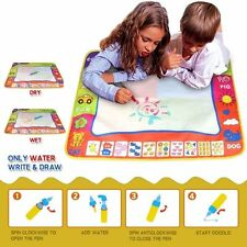 UK Kids Aqua Doodle Water Painting Drawing Mat Cute Writing Board Magic Pen Toy