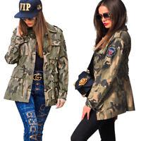 Women's Long Sleeve Ladies Casual Camouflage Coat Overcoat Jacket Outwear Blazer