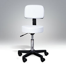 Massage Salon Facial Manicure Barber SPA Chair Stool Swivel Gas Lift Stool White