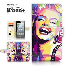 ( For iPhone 7 ) Wallet Case Cover P21330 Marilyn Monroe