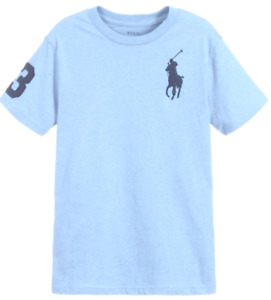 Genuine Ralph Lauren Polo Boys T shirt top Crew S/S Age 2-14 Big Pony Turquoise