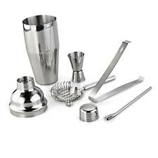 New 750ml Set 5 Stainless Steel Cocktail Shaker Mixer Bar Drink