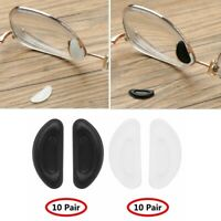 10_Pairs Anti-Slip Silicone Adhesive Sticky Nose Pads for Glasses Eyeglasses