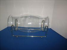 Partylite Hurricane Glass Shade Horizontal Brass Cradle c5