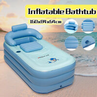 Portable Inflatable Bath Tub Adult Folding Air Pump Warm Spa Household Adult New