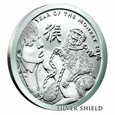 2016 Silver Shield Year of the Monkey 1 oz Silver Round