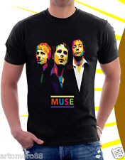 Muse Rock Band Black T-shirt For Man And Woman Size M-3XL