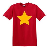 Steven Universe YELLOW STAR Adult Comedy RED Men Women Unisex T-shirt 2914