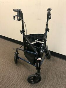 Carex Trio Rolling Walker - Blue. Used once, in great condition.