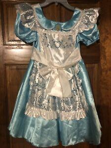 Disney Store Alice in Wonderland Costume Dress Girls Size L (10)