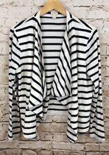 J Crew cardigan always womens XL draped cotton long sleeves black white 68140 G2