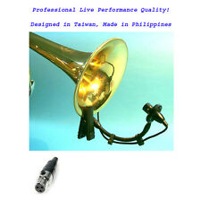 Set of 2pcs Instrument Mic Horn Saxophones Trumpet Tuba Drum for AKG Wireless PT