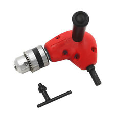 "3/8"" Grip Right Angle Drill Attachment 90 Degree Handle Key Chuck Adapter"