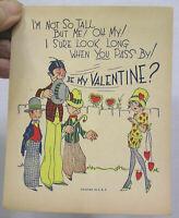 Vintage Valentine Card 1930s Deco Ladies & Gentlemen Cute Verse