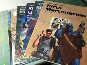 RIFTS RPG - 6 Book Lot Mercenaries Chaos Earth England Rifter Palladium Books