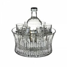 Waterford Crystal Lismore Diamond 7 PCE Vodka Set in Chill Bowl 11cm